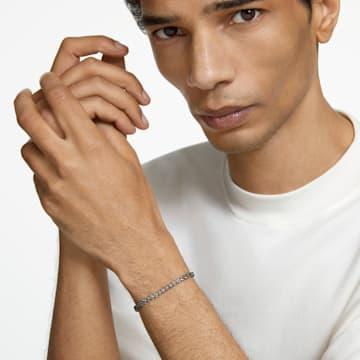 Tennis Deluxe-armband, Grijs, Ruthenium toplaag - Swarovski, 5514655