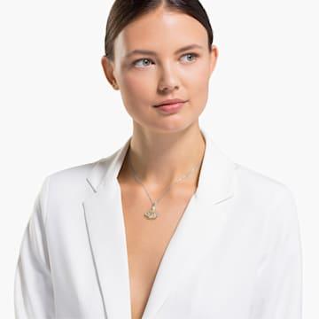 Pendentif Stunning Gingko, blanc, finition mix de métal - Swarovski, 5515462