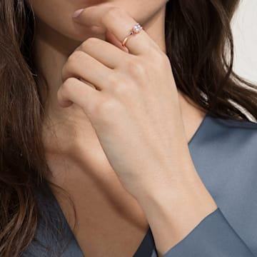 Zdobený prsten Attract, Bílý, Pozlacený růžovým zlatem - Swarovski, 5515777
