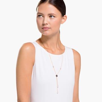 Latisha Y-Halskette, schwarz, Rosé vergoldet - Swarovski, 5516428