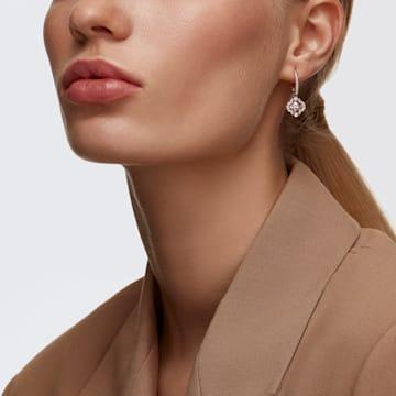 Swarovski Sparkling Dance 穿孔耳环, 幸运草, 粉红色, 镀玫瑰金色调 - Swarovski, 5516477