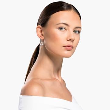 Spirit 穿孔耳环, 白色, 镀铑 - Swarovski, 5516533