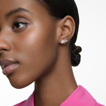 Attract Soul 穿孔耳環, 粉紅色, 鍍白金色 - Swarovski, 5517118