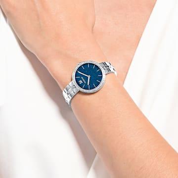 Montre Cosmopolitan, bracelet en métal, bleu, acier inoxydable - Swarovski, 5517790