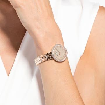 Cosmopolitan 腕表, 金属手链, 粉红色, 玫瑰金色调 PVD - Swarovski, 5517800