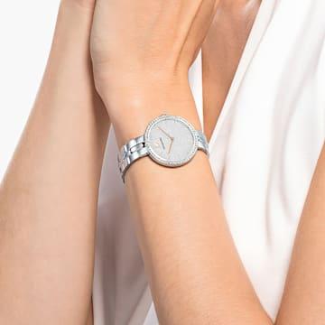 Cosmopolitan Watch, Metal bracelet, White, Stainless steel - Swarovski, 5517807