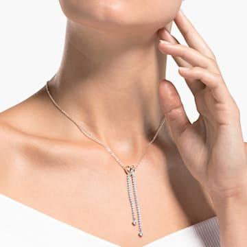 Lifelong Heart Y-vormige ketting, Wit, Gemengde metaalafwerking - Swarovski, 5517952