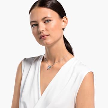 Sunny nyaklánc, világos, többszínű, ródium bevonattal - Swarovski, 5518414