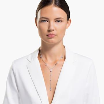 Collana a Y Sunny, multicolore chiaro, placcato rodio - Swarovski, 5518415