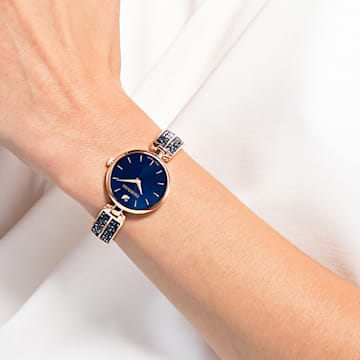 Dream Rock-horloge, Metalen armband, Blauw, Roségoudkleurig PVD - Swarovski, 5519317