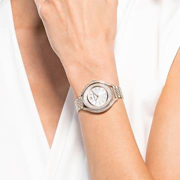 Crystalline Aura Часы, Металлический браслет, Оттенок золота Кристалл, PVD-покрытие золотого цвета оттенка шампанского - Swarovski, 5519456
