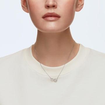 Naszyjnik Swarovski Infinity, biały, powlekany rodem - Swarovski, 5520576
