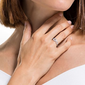 Bague Swarovski Infinity, blanc, métal rhodié - Swarovski, 5520580