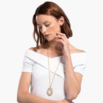 Colgante Shell, blanco, baño tono oro - Swarovski, 5520668