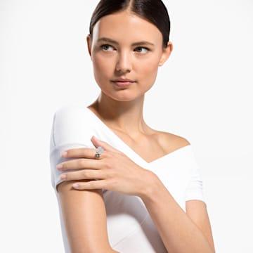 Anel Latisha, preto, banhado a rosa dourado - Swarovski, 5520947