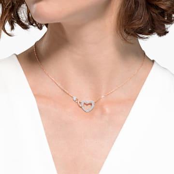 Swarovski Infinity Heart 세트, 화이트, 믹스메탈 피니시 - Swarovski, 5521040