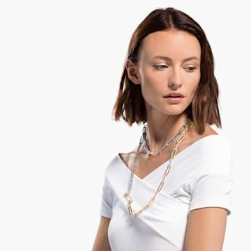 So Cool nyaklánc, fehér, vegyes fémbevonattal - Swarovski, 5521723