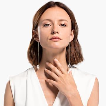 Orecchini So Cool, bianco, placcato color oro - Swarovski, 5521724