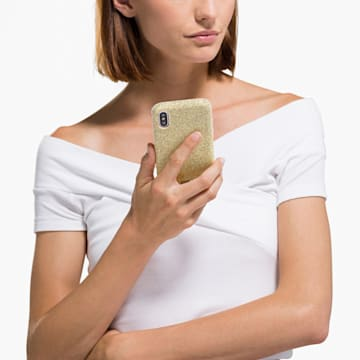 High Smartphone Schutzhülle mit Stoßschutz, iPhone® X/XS, goldfarben - Swarovski, 5522086