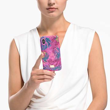 Tropical Smartphone Schutzhülle mit Stoßschutz, iPhone® X/XS, mehrfarbig dunkel - Swarovski, 5522096