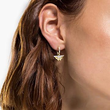 Sztyftowe kolczyki koła Fit Wonder Woman, odcień złota, różnobarwne metale - Swarovski, 5522301
