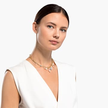 Collier So Cool Charm, blanc, finition mix de métal - Swarovski, 5522860