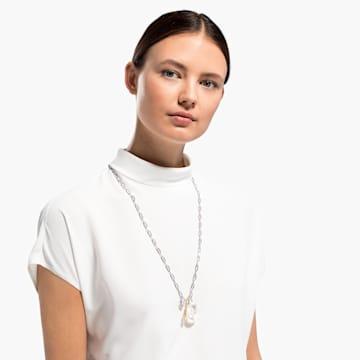 So Cool Cluster Halskette, weiss, Metallmix - Swarovski, 5522875