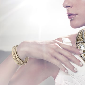 Slake Deluxe Armband, Beige, Goldlegierung - Swarovski, 5523636