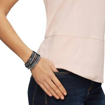 Slake Deluxe Bracelet, Black - Swarovski, 5524012