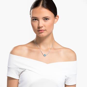 Sparkling Halskette, türkis, rhodiniert - Swarovski, 5524137