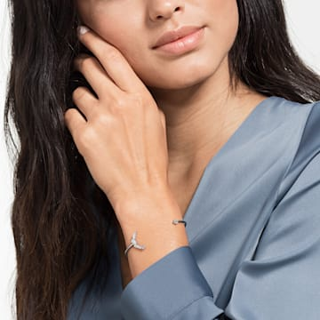 Penélope Cruz Moonsun Cuff, White, Rhodium plated - Swarovski, 5524266