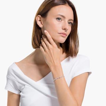 Perfection 手链, 粉红色, 镀铑 - Swarovski, 5524544