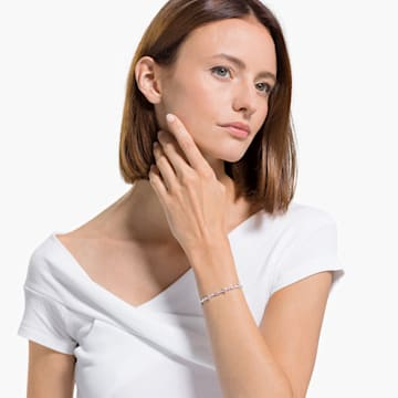 Perfection Armband, rosa, rhodiniert - Swarovski, 5524544