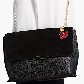 Accessorio per borse Swan, rosso, placcato color oro - Swarovski, 5526754