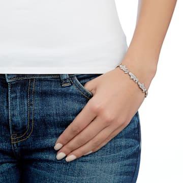 Diapason 手鏈, 白色, 鍍白金色 - Swarovski, 5528190