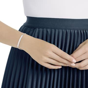 Locket bracelet, White, Rhodium plated - Swarovski, 5528194