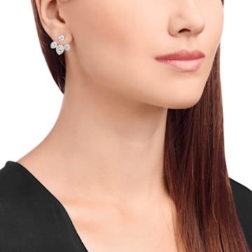 Laina 穿孔耳環花托, 白色, 鍍白金色 - Swarovski, 5528494