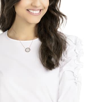 Lollypop Necklace, Black, Rose-gold tone plated - Swarovski, 5528723