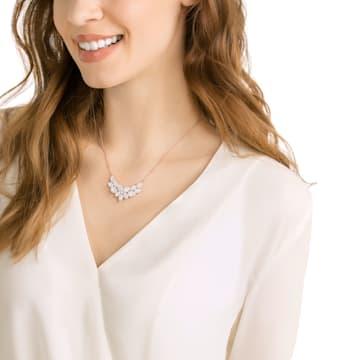 Collana Baron, Bianco, Placcato color oro rosa - Swarovski, 5528751