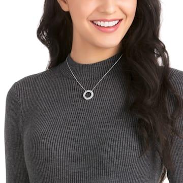 Hilt necklace, White, Rhodium plated - Swarovski, 5528929