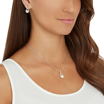 Enlace Set, weiss, Rhodiniert - Swarovski, 5528959