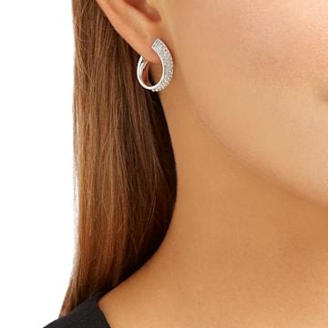 Boucles d'oreilles Exist, blanc, Métal rhodié - Swarovski, 5529348