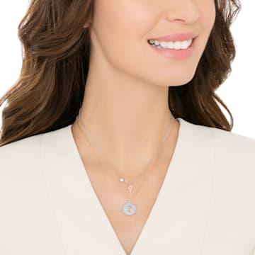 Pendentif Crystal Wishes Key, Rose, Finition mix de métal - Swarovski, 5529570