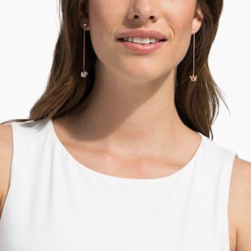 18K RG Dia Queen of Chic Long Earrings - Swarovski, 5529683