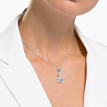 Collana Dazzling Swan, blu, placcato rodio - Swarovski, 5530625