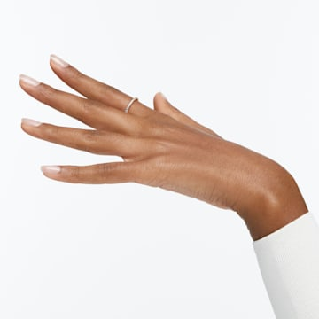 Anel Vittore, branco, banhado a dourado - Swarovski, 5531163