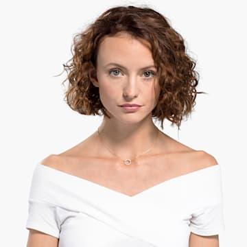 Collar Only, blanco, Baño en tono Oro Rosa - Swarovski, 5531529