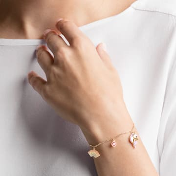 Out of this World Unicorn Bracelet, Multi-coloured, Gold-tone plated - Swarovski, 5531531