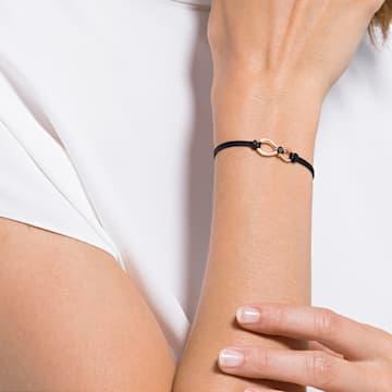 Swarovski Infinity Armband, schwarz, Rosé vergoldet - Swarovski, 5533721