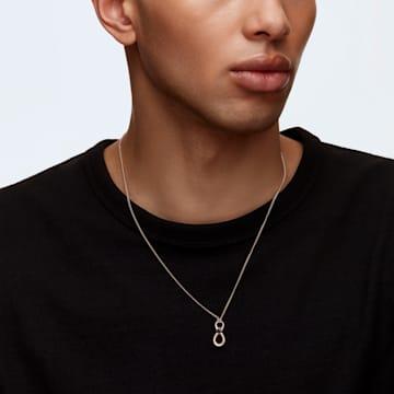 Swarovski Infinity pendant, Infinity, Black, Rose gold-tone plated - Swarovski, 5533722